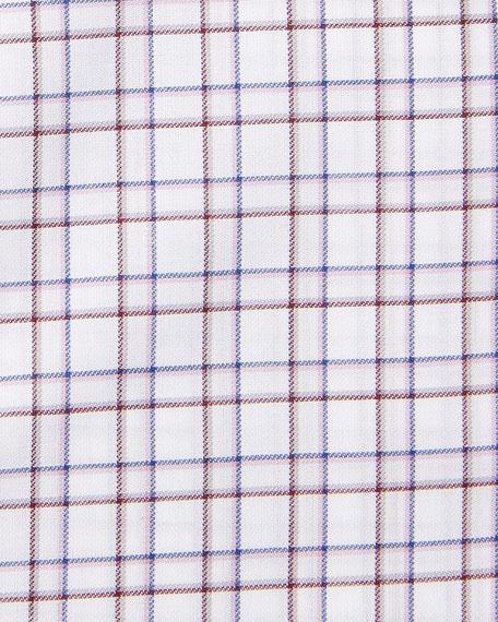 ERMENEGILDO ZEGNA Cottons MEN'S CHECK DRESS SHIRT