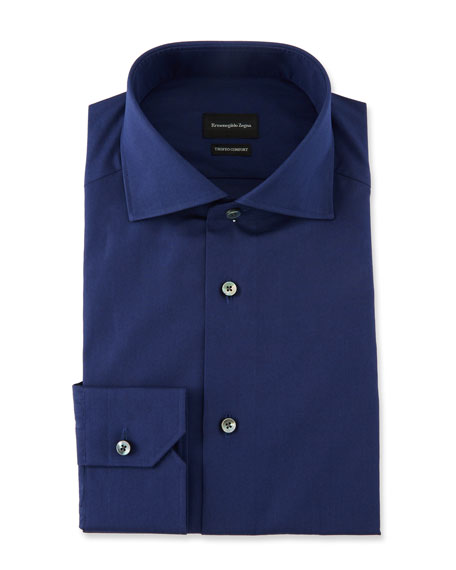Ermenegildo Zegna Men's Solid Trofeo Dress Shirt
