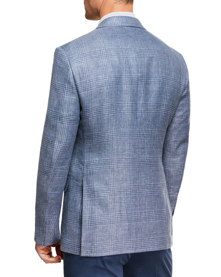 Ermenegildo Zegna Men's Plaid Crossover Two-Button Jacket