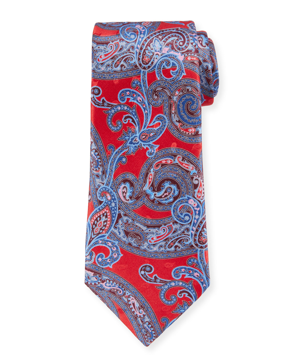 3f0aba6b Large-Scale Paisley Tie, Red