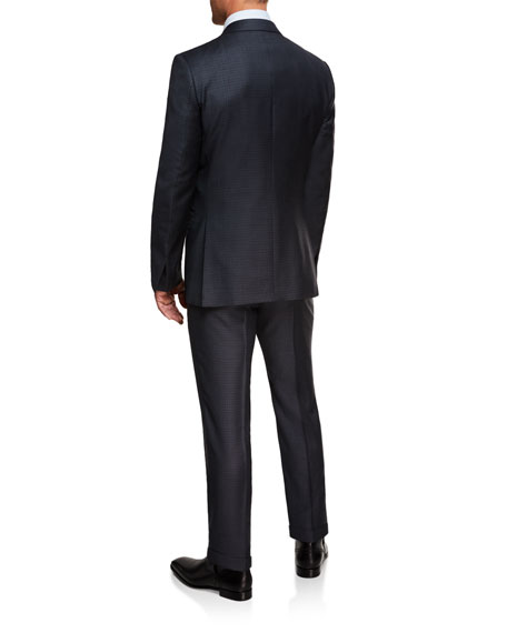 Ermenegildo Zegna Men's Graph Check Trofeo Two-Piece Suit