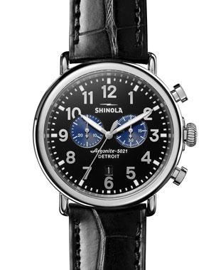 89600ec8482cd Men s Designer Watches  Leather   Gold at Neiman Marcus