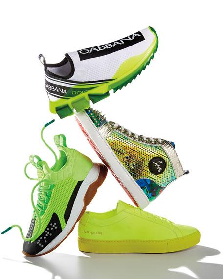 Common Projects Men's Achilles Low Fluo Low-Top Sneakers