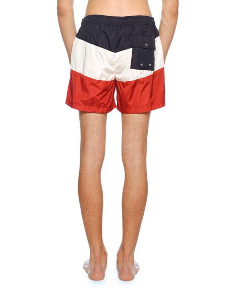 341f8b8edf Moncler Men's Tricolor Swim Trunks   Neiman Marcus