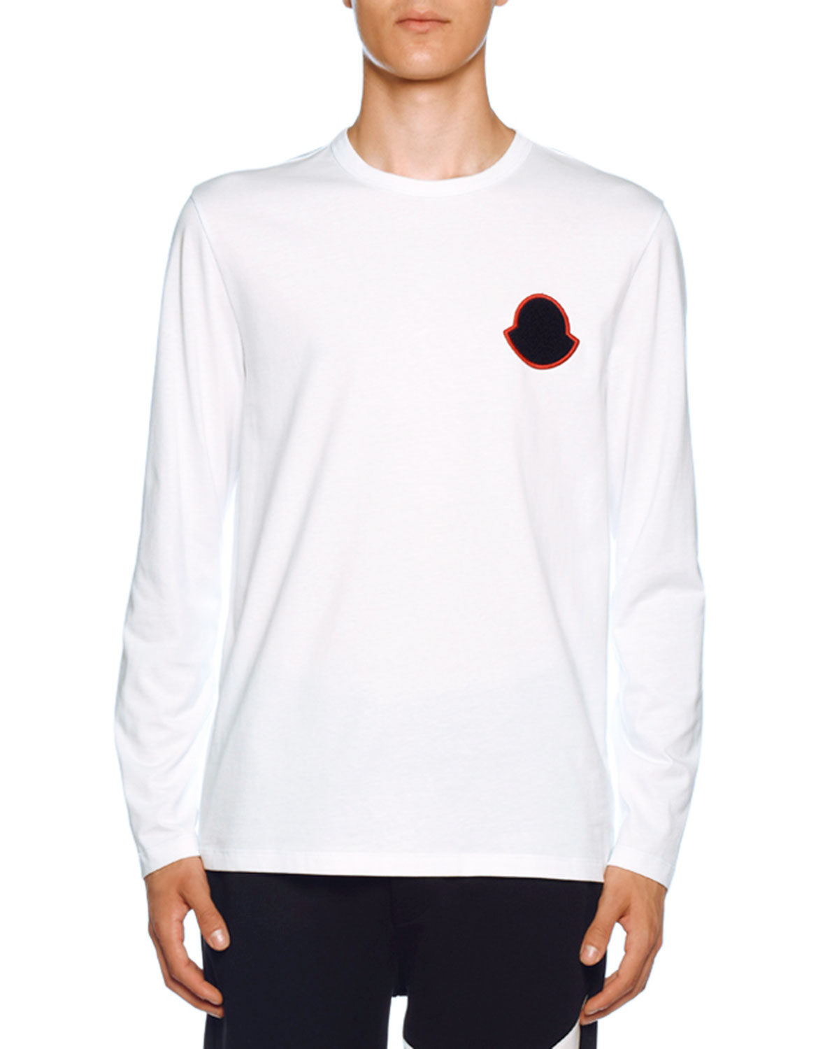 Men's Long Sleeve Crewneck T Shirt by Moncler