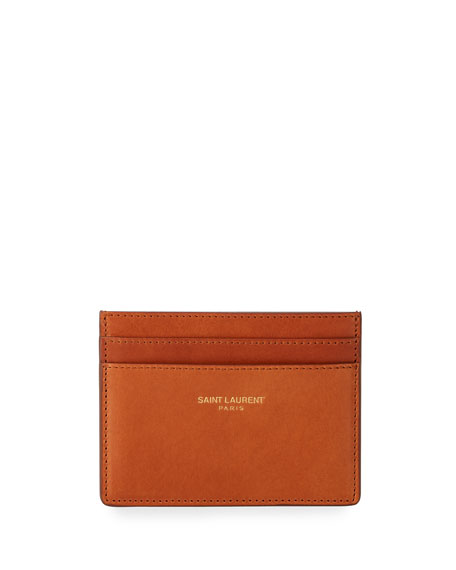 Saint Laurent Men's Classic Leather Card Case