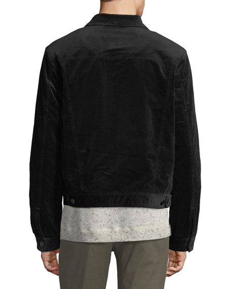 ATM Anthony Thomas Melillo Men's Sherpa-Lined Corduroy Jacket