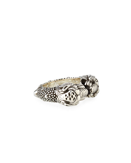 Gucci Men's Siamese Snake Tiger Head Ring
