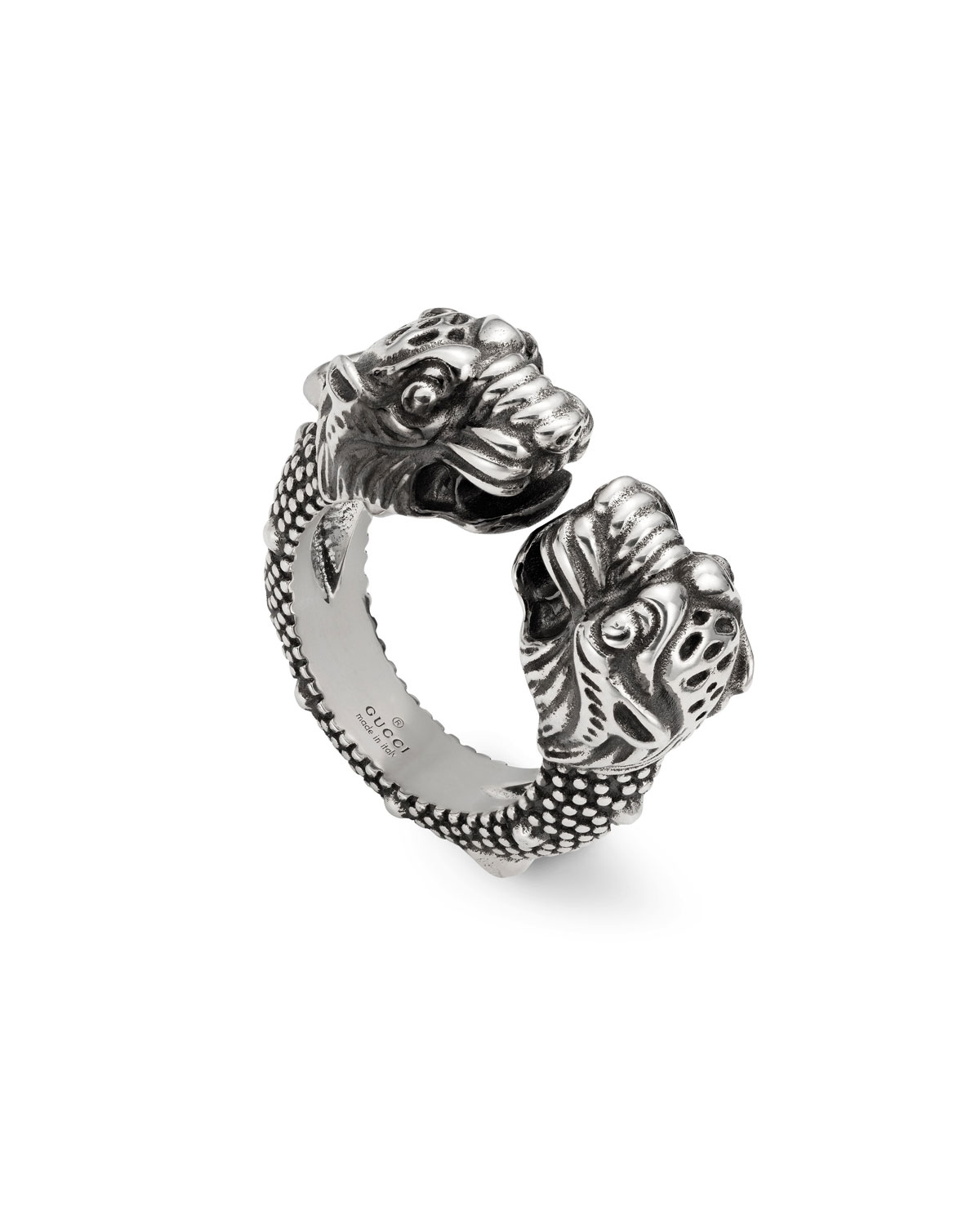 a8a487f96 Gucci Men's Siamese Snake Tiger Head Ring | Neiman Marcus