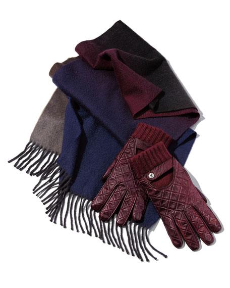Christophe Fenwick Men's Vintage Cashmere-Lined Lambskin Gloves