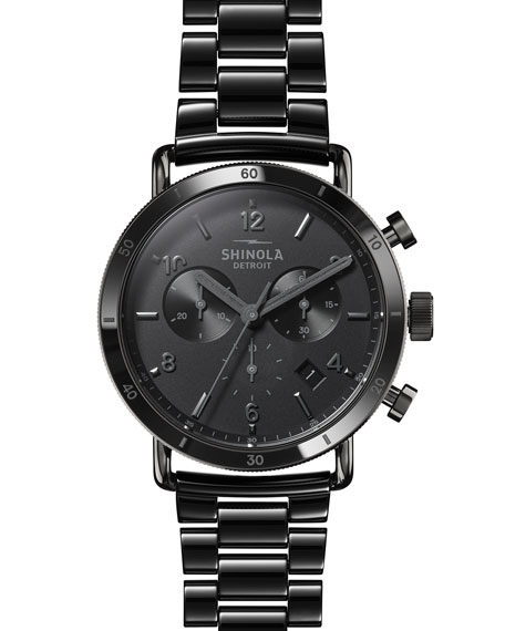 Shinola Men's 40mm Canfield Sport Ceramic Bracelet Watch
