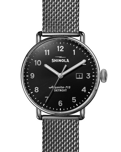 Men's 43mm Canfield Mesh-Bracelet 3HD Watch