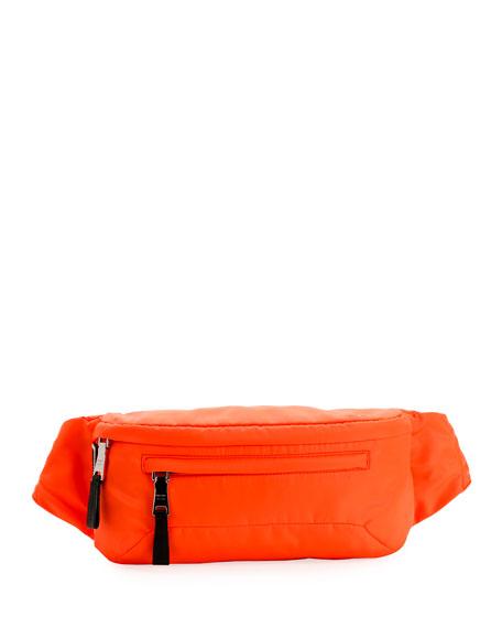 Prada Belt Men's Nylon Belt Bag/Fanny Pack with Fluorescent Lining