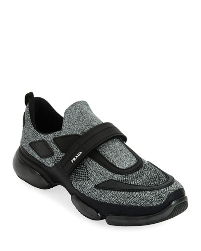 Men's Cloudbust Runner Sneakers with Single Grip-Strap