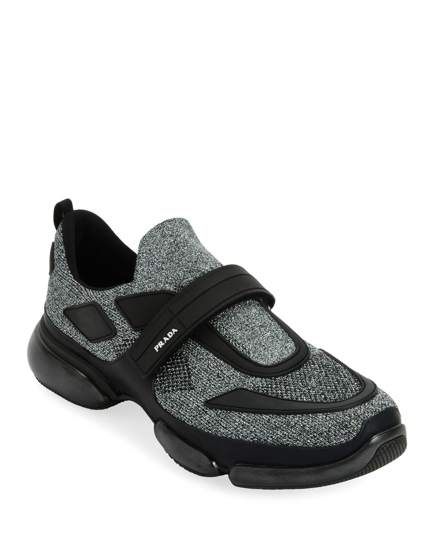 Prada Men s Cloudbust Runner Sneakers with Single Grip-Strap ... c26bfcfa30c4
