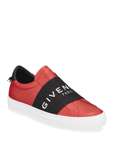 Men's Urban Street Elastic Slip-On Sneakers  Red/Black
