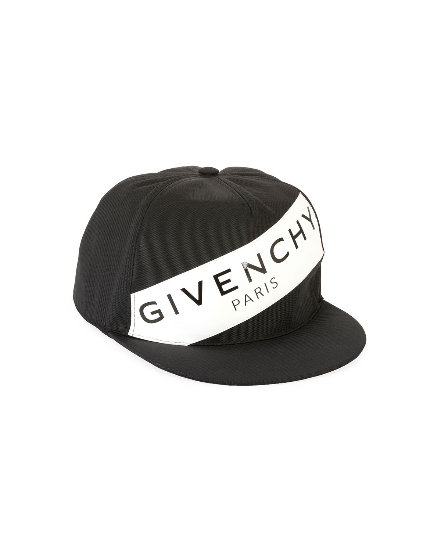 092f20c5 Givenchy Men's Logo Flat-Bill Hat, Black/White | Neiman Marcus