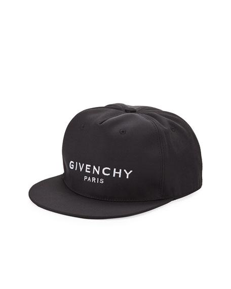 Givenchy Men's Logo Flat-Bill Hat, Black