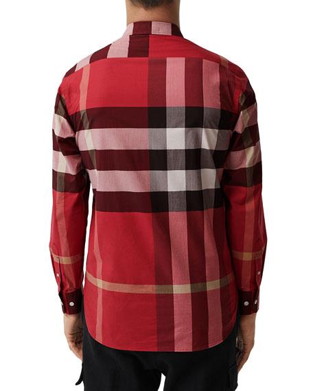 Burberry Men's Windsor Check Sport Shirt, Red