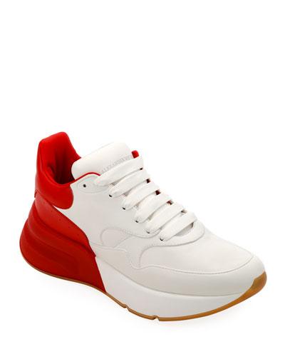 Men's Oversized Leather Runner Sneaker