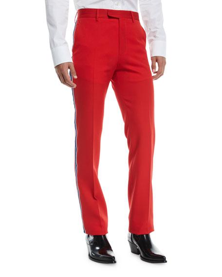 CALVIN KLEIN 205W39NYC Men's Two-Tone Side-Stripe Wool Pants