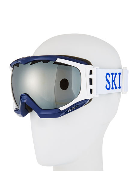 Stefano Ricci Octagonal Mirrored Ski Goggles