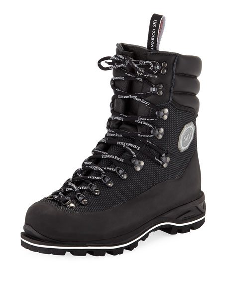 Image 1 of 3: Stefano Ricci Men's Leather Mountain Boots