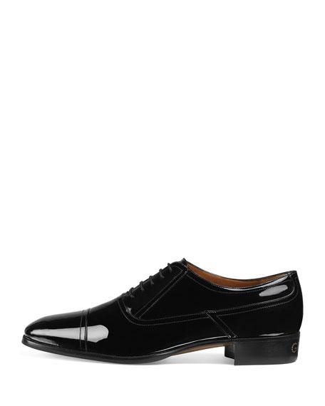 Gucci Men's Patent Leather Lace-Up Shoes