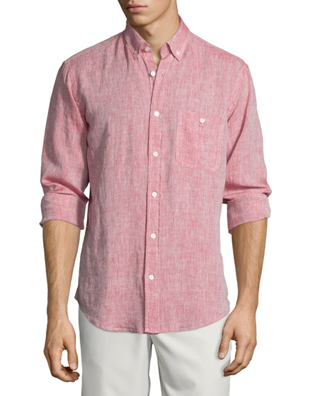 7 for all mankind Linen Long-Sleeve Oxford Shirt