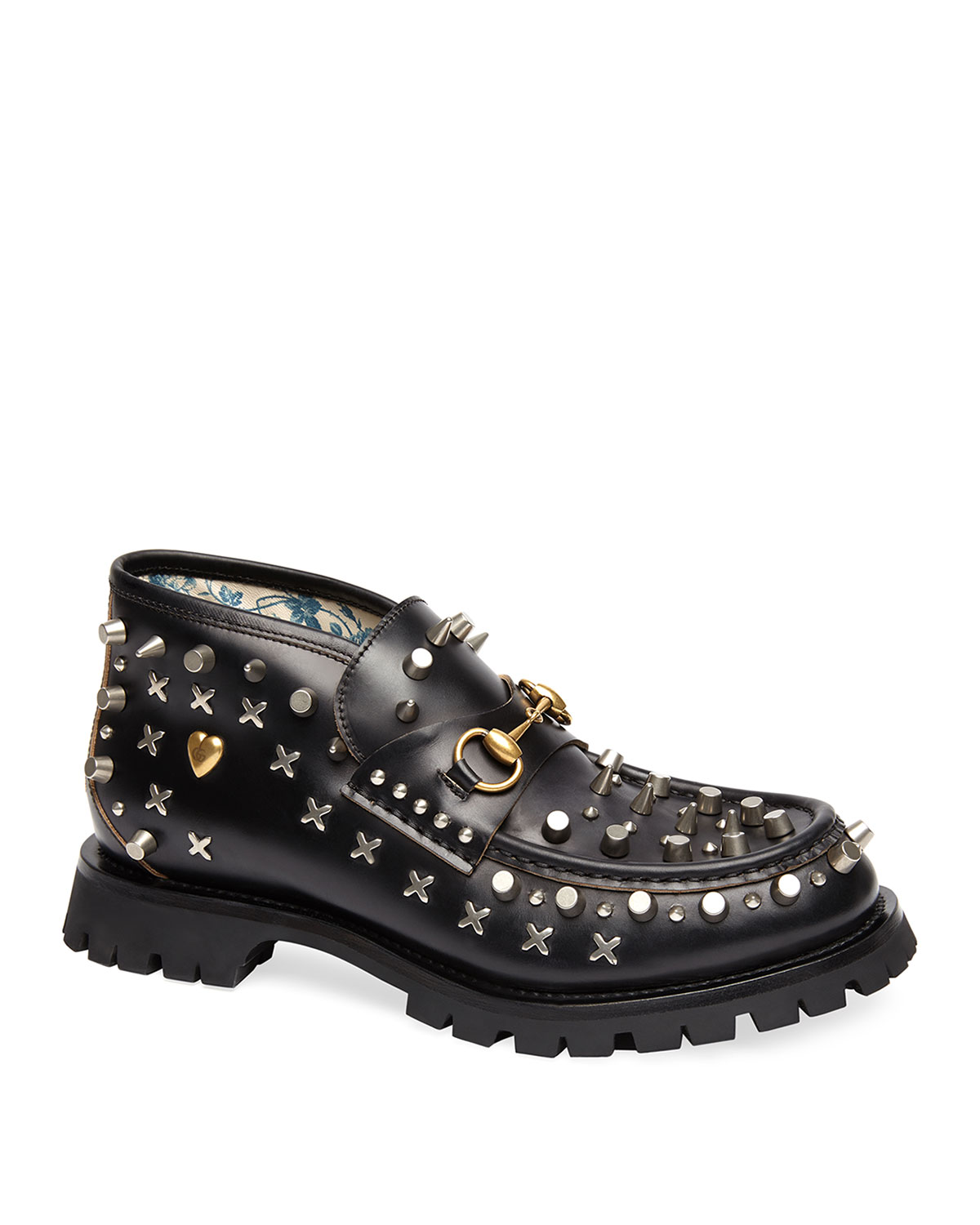 9f9a8be7b47 Gucci Men s Studded Leather Ankle Boots