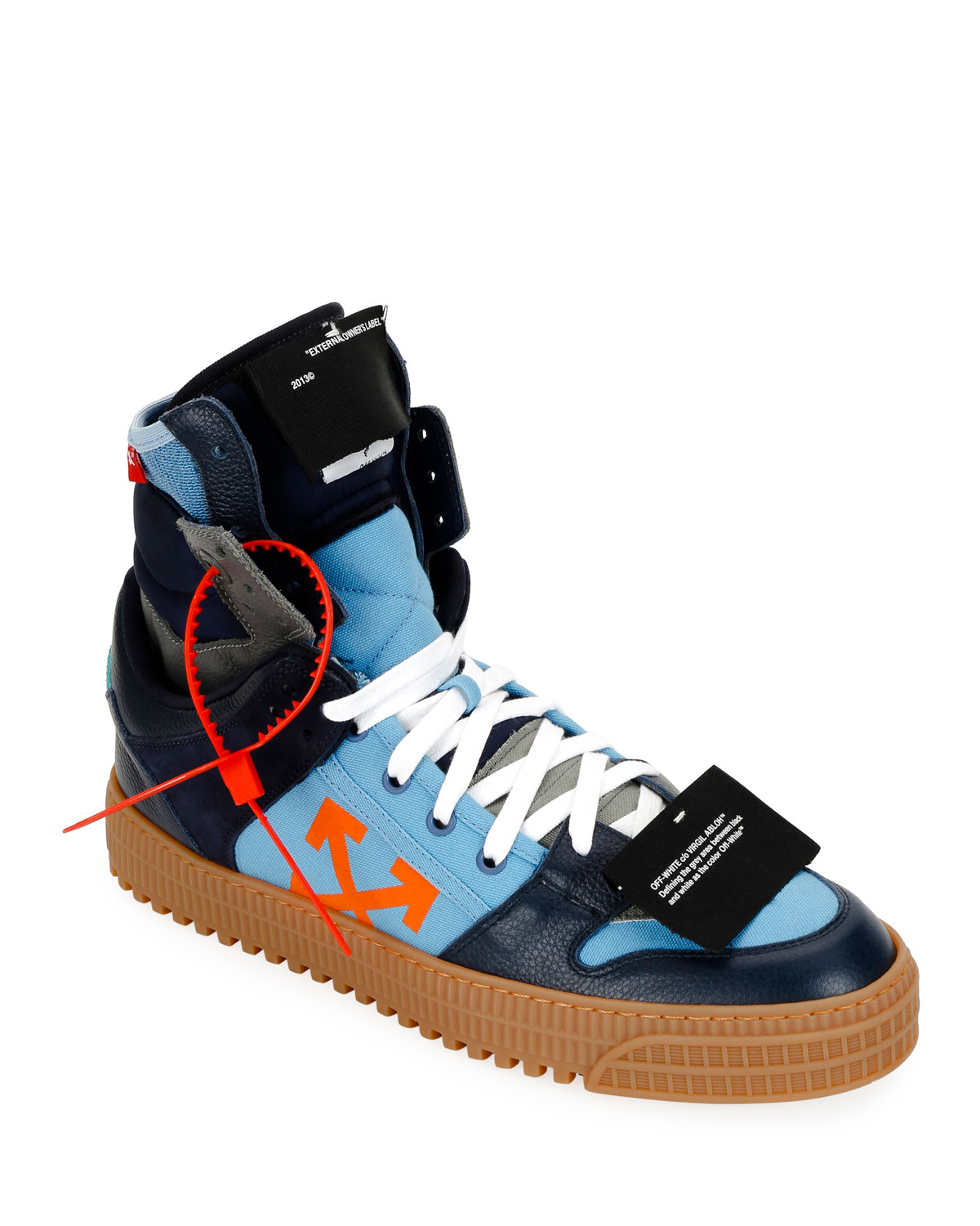 37aabe38c6c0 Off-White Men s Off Court Suede Leather High-Top Sneakers