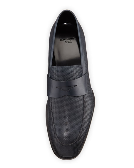 Giorgio Armani Men's Leather Penny Loafers