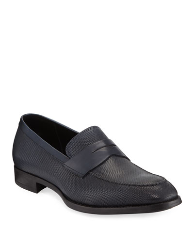 Men's Leather Penny Loafers