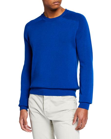Berluti Men's Silk-Blend Crewneck Sweater