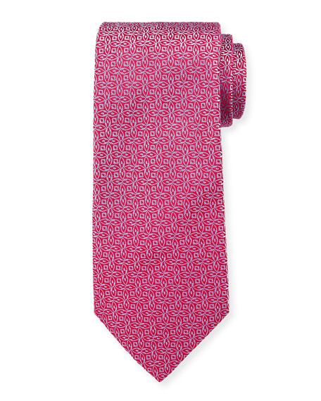 Charvet Men's Silk Interlocking Floral Tie