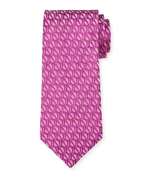 Charvet Men's Sand Print Silk Tie