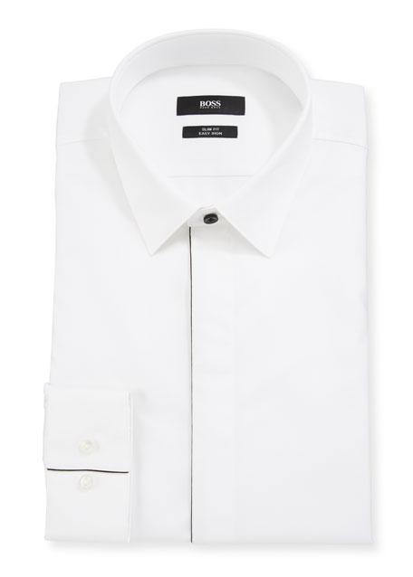 BOSS Men's Slim-Fit Easy Iron Evening Dress Shirt