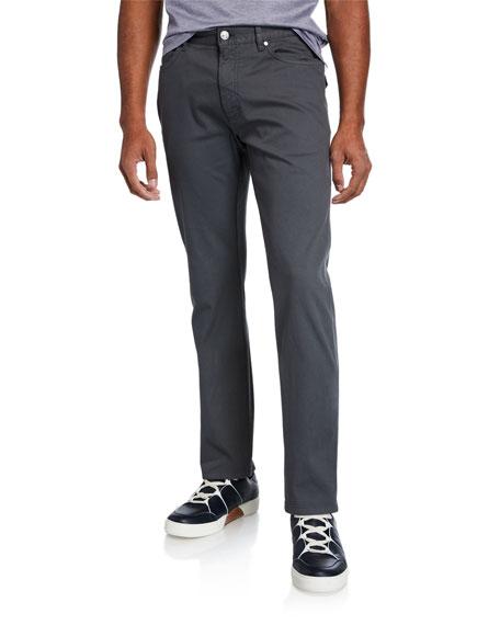 Ermenegildo Zegna Men's 5-Pocket Straight-Leg Canvas Pants