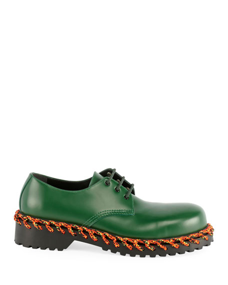 Balenciaga Men's Braided Derby Shoes