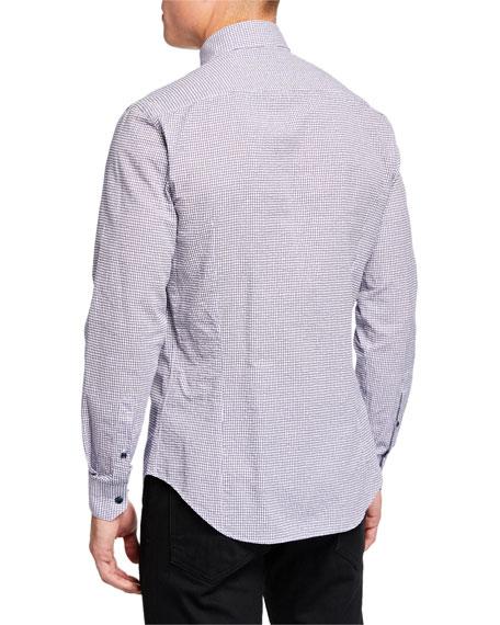 Giorgio Armani Men's Micro-Graph Cotton Sport Shirt