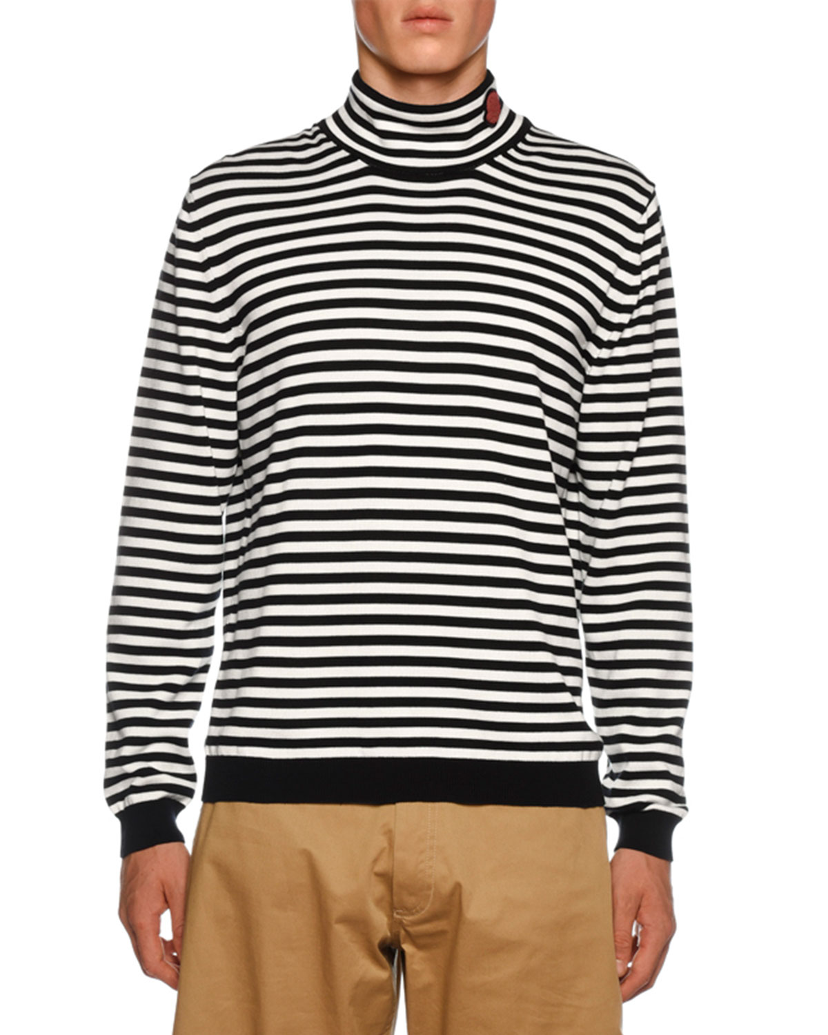 Men's Striped Turtleneck Sweater by Moncler