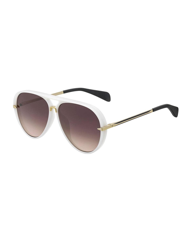 d4fac4361ab1 Rag & Bone Men's Nylon Aviator Sunglasses | Neiman Marcus