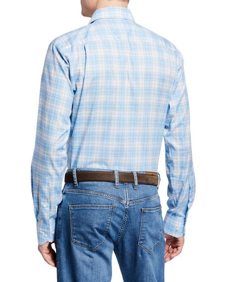 Peter Millar Men's Riviera Plaid Sport Shirt