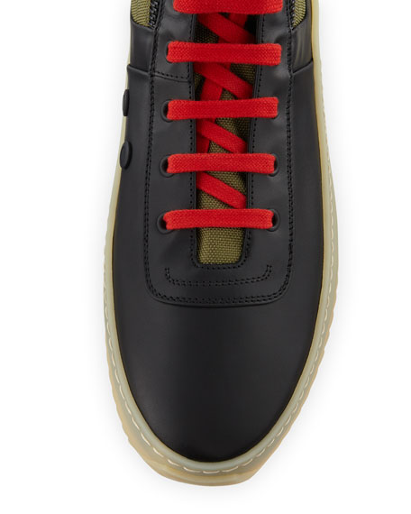 Fear of God Men's Jungle High-Top Sneakers with Canvas Insets