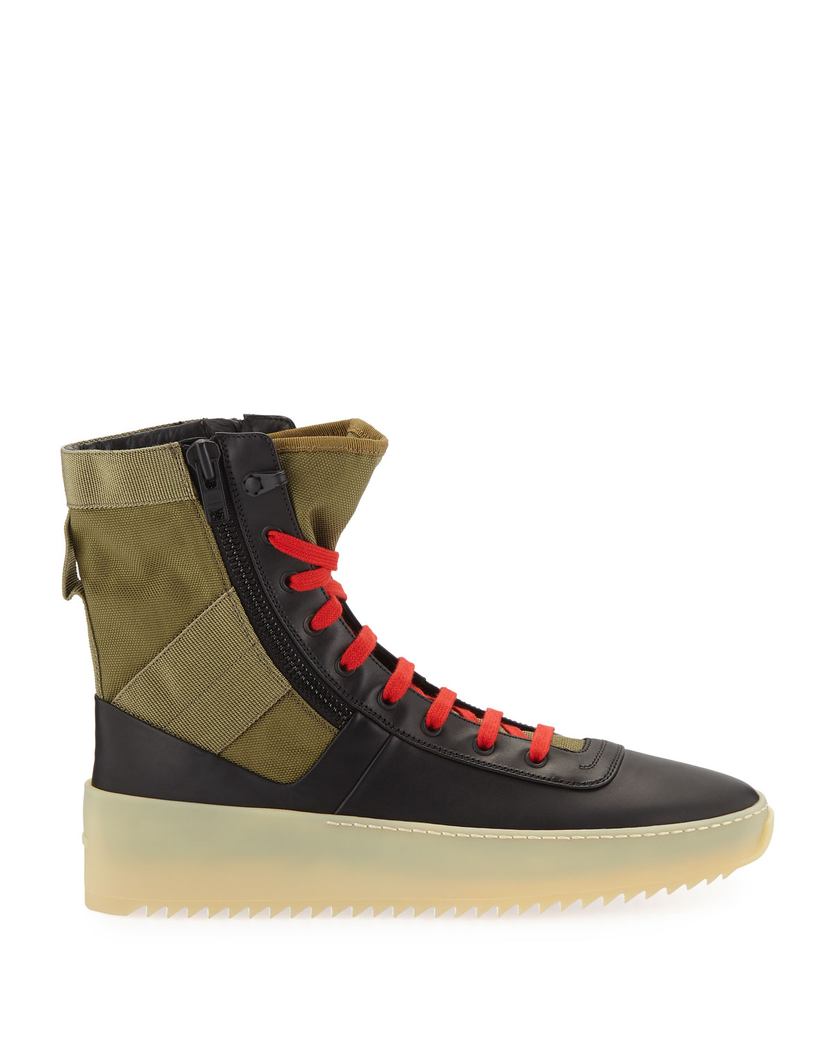 1d9aa4b3e Fear of God Men's Jungle High-Top Sneakers with Canvas Insets | Neiman  Marcus