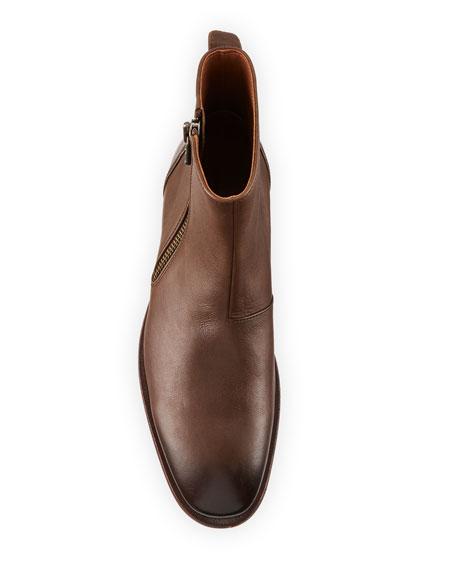 John Varvatos Men's Mitchell Side-Zip Leather Boots