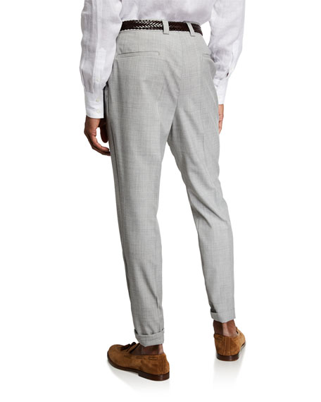 Brunello Cucinelli Men's Wool Dress Pants