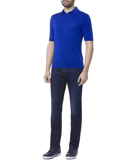 Stefano Ricci Men's Dark Denim Five-Pocket Jeans