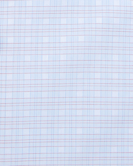 Stefano Ricci Men's Small Check Dress Shirt