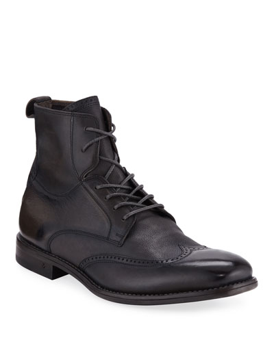 Men's Irving Paneled Wing-tip Boots